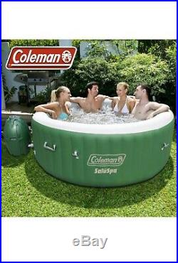 120 Jet Inflatable Hot Tub Indoor Outdoor Jacuzzi Backyard Deck Heat Pool Lights