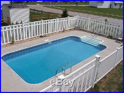 18' x 36' Rectangle Steel Inground Pool Kit with 8' Step