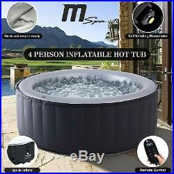 2019 MSpa Hot Tub 2+2 Jacuzzi Spa Outdoor Garden Self Inflating Mspa Circle