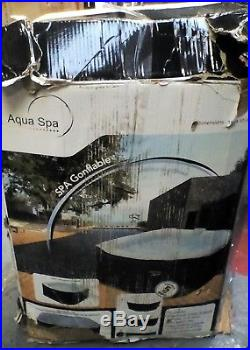 25A3 Aqua Spa Spa Gonflable Black Outdoor Pool 4 Person