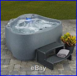 2 Person Hot Tub Jacuzzi Spa Outdoor With Waterfall And Led Lights