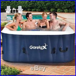 4-Person Automatic Inflatable Hot Tub Heated Bubble Portable Outdoor Spa Massage