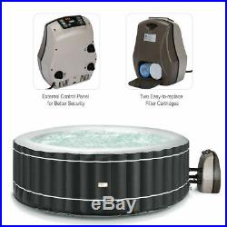 4-Person Inflatable Hot Tub Portable Outdoor Spa Bubble Jet Leisure Massage Spa