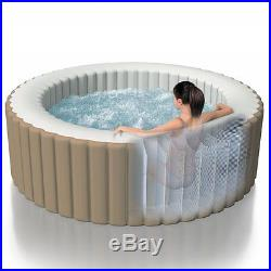 4-Person Inflatable PureSpa Portable Bubble Massage Spa Set