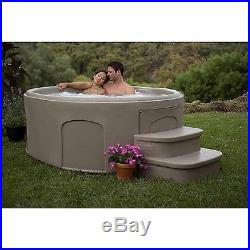 4-Person Outdoor Jacuzzi Hot Tub Spa Heated Bubble withMatching Step Therapy Bath