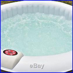 4 Person Portable Inflatable Hot Tub for Outdoor Jets Massage Spa with Cover + Kit