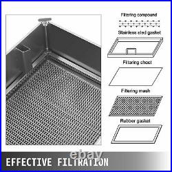 58L Oil Capacity Oil Filtration System Fryer Filter With Stainless Steel Lid