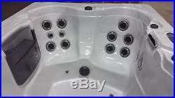 5 Person Outdoor Whirlpool Spa Hot Tub with 23 Jets Waterfall and LED Perimeter