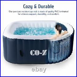 5x5ft Inflatable Hot Tub Ideal for 4 Portable Jacuzzi for Patio Backyard More