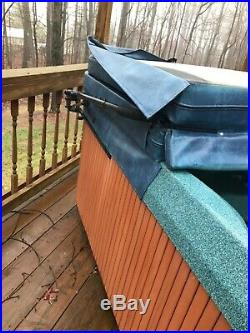 6-8 person jacuzzi premium blue hot tub with assist cover