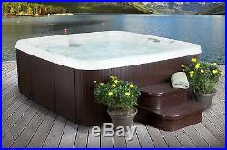 6 Person 65 Jet Primo Hot Tub Spa Mahogany with Steps Cover Waterfall 7 Seats