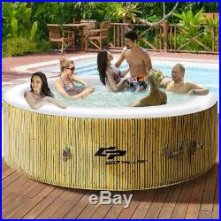 6 Person Inflatable Hot Ground Tub Outdoor Massage Spa 264 Gallons Rubber Plug