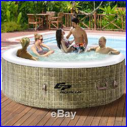 6 Person Inflatable Hot Tub Outdoor Jets Portable Heated Bubble Massage Spa New