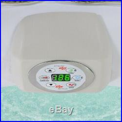 6 Person Inflatable Hot Tub Outdoor Massage Spa Beige NEW