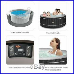 6-Person Inflatable Hot Tub Portable Outdoor Spa Bubble Jet Leisure Massage Spa