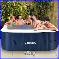 6-Person Inflatable Hot Tub Portable Outdoor Spa Bubble Jet Massage Spa