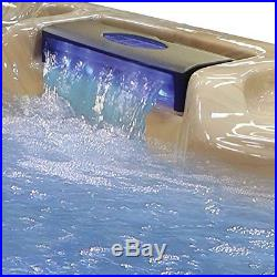 6-Person Outdoor Jacuzzi Hot Tub Spa 30-Jet Bench Heater Massage Pool withCover