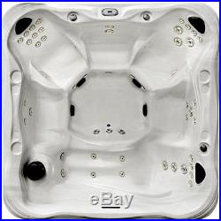 6 Person Outdoor Whirlpool Lounger Spa Hot Tub w Cover, Lights-50 Jets
