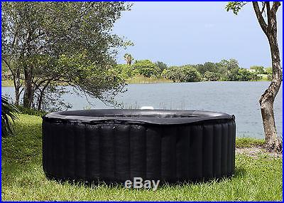 6 Person Round TheraPureSpa TheraPure Portable Inflatable Hot Tub Spa EST6000