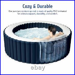 6x6ft Inflatable Jacuzzi w Heater & 120 Massaging Jets for Patio Backyard & More