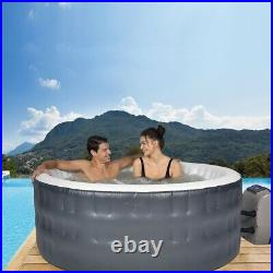 71 Inch Portable Bubble Jet 4 Person Inflatable Hot Tub With Cover Round SPA New