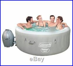 71 Jet Inflatable Hot Tub Indoor Outdoor Jacuzzi Backyard Deck Heat Pool Lights