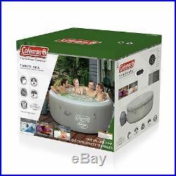 81 Jet Inflatable Hot Tub Indoor Outdoor Jacuzzi Backyard Deck Heat Pool Lights