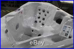American Spas 2-Person 28-Jet Triangle Sterling Silver Spa withMulti ColorLight