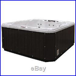 American Spas 5-Person 30-Jet Lounger Spa with Backlit LED Waterfall