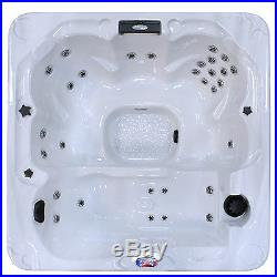 American Spas 6-Person 30-Jet Spa with Backlit LED Waterfall
