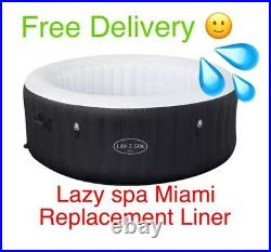 BRAND NEW 2021 Bestway Lay Z Spa MIAMI Airjet Liner /Tub Only- NO HEATER OR LID