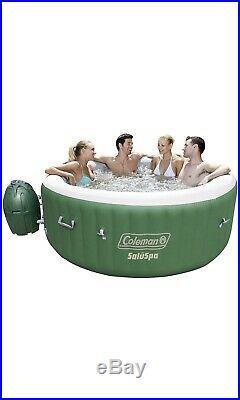 BRAND NEW Coleman SaluSpa Inflatable Hot Tub Spa, Green & White