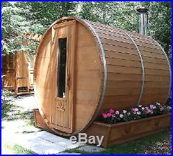 Barrel Sauna Kit Outdoor Barrel Sauna Room 7' x 7' Electric Heater