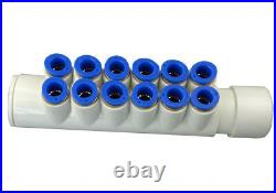 Bath tub bubbl system, air blower and jet manifold, hose for spa hot tub