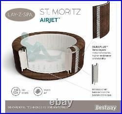 Bestway LAY-Z-SPA St. Moritz AirJet Whirlpool Rattan-Optik 5-7 Personen AirJet