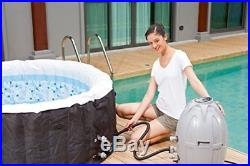 Bestway Lay-Z Miami Bubble Massage SPA SET, 4 People Portable Inflatable HOT TUB