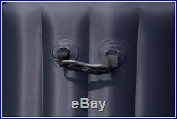 Bestway Lay-Z-Spa Miami 4 Person Inflatable Airjet Heated Round Hot Tub Black
