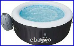 Bestway SaluSpa 71 x 26 inch Miami 4 Person Inflatable Jacuzzi Hot Tub Black