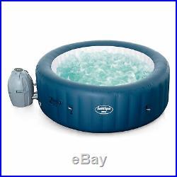 Bestway SaluSpa Milan Airjet Plus Portable Round Inflatable Hot Tub Spa, Blue