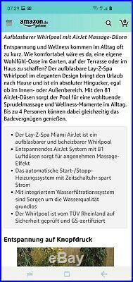 Bestway WhirlPool Lay-Z-Spa Miami AirJet 54123 Indoor/Outdoor Neu Filterpumpe