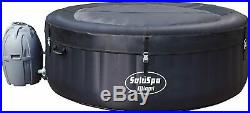 Brand New Bestway Saluspa Hot Tub Miami Black Inflatable Jacuzzi Free Shipping