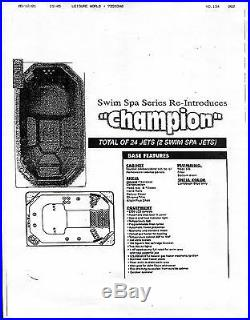 CalSpas Champion Hot Tub / Swim Spa (52 x 96 x 169) 24 jets