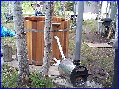 Cedar Wood Hot Tub -Wood Fired seats 4 wooden hottub