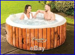 CleverSpa 4 Person jacuzzi Sequoia Inflatable Hot Tub Miami garden outdoor patio