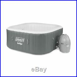 Coleman SaluSpa 4 Person Portable Inflatable Hot Tub and 4 Intex PureSpa Seats