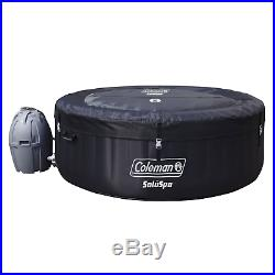 Coleman SaluSpa 4 Person Portable Inflatable Outdoor Spa Hot Tub Black SPECIAL
