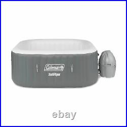 Coleman SaluSpa 4 Person Square Portable Inflatable Hot Tub & 6-Pack of Filters
