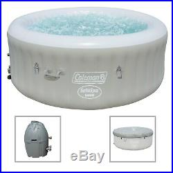 Coleman SaluSpa 6 Person Inflatable Outdoor Spa Jacuzzi Bubble Massage Hot Tub