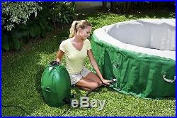 Coleman SaluSpa Inflatable Hot Tub Spa 2020 Green & White 77 x 28 SHIP FAST