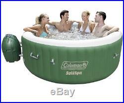 Coleman SaluSpa Inflatable Hot Tub Spa, Green & White 77 X 28. In-Hand Ship ASAP